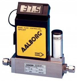 Aalborg GFC17A-VADL2-E0-04-N2 Mass Flow Controller 0 to 100 ml/min N2 1/4""