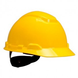 3M H-702R-UV Yellow Hard Hat with UVicator (Pack of 20)