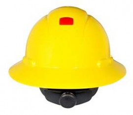 3M H-802R-UV Yellow Hard Hat with UVicator (Pack of 10)