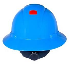 3M H-803R-UV Blue Hard Hat with UVicator (Pack of 10)