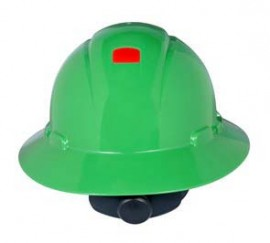 3M H-804R-UV Green Hard Hat with UVicator (Pack of 10)