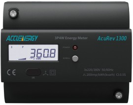 AccuEnergy AcuRev 1313-333-X1 DIN Rail Multifunction Power/Energy Meter 333mV Input CT Relay Output