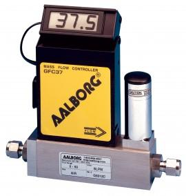 Aalborg GFC37-VADL2-E0-33-N2 Mass Flow Controller 0 to 50 LPM N2 1/4""