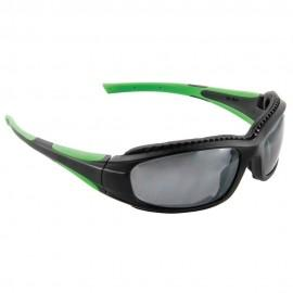 3M SS1514AS-B Safety Sunwear with Black/Green Frame and Silver Lenses (Pack of 10)