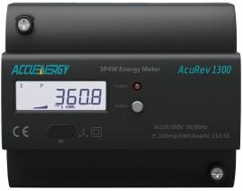 AccuEnergy AcuRev 1311-5A-X0 DIN Rail Multifunction Energy Meter 5A/1A Input CT No Additional I/O