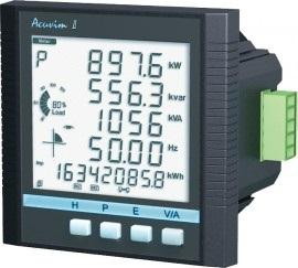 AccuEnergy Acuvim IIR-D-5A-P2 Intelligent LCD Power Meter with Datalogging 5A Input 20-60V DC