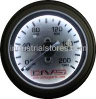AVS GAU200AVS1 Single Needle Air Gauge Silver Face with White LED