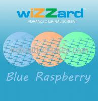 Air-Scent WUS50-LB Wizzard Urinal Screen - 50/Pack (Light Blue-Raspberry) (Qty of 5)