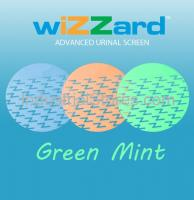 Air-Scent WUS50-LG Wizzard Urinal Screen - 50/Pack (Light Green-Mint) (Qty of 5)