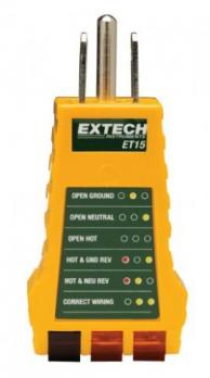 Extech ET15-10PK Receptacle Testers, Pack of 10