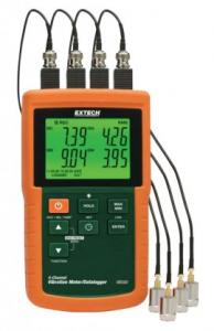 Extech VB500-NIST 4-Channel Vibration Meter/Datalogger with NIST Traceable Certificate