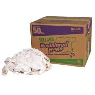 Sellars 99216 White Reclaimed Knit/Polo Rags (50lb box)