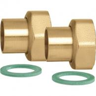 "Caleffi NA12260 Union Connection Set 1"" with Nuts (Set of 2)"