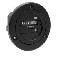 """Redington 711-0160 Blackbird Hourmeter Round 115V 60Hz 2.93""""-Diameter"""
