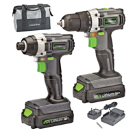 Genesis GL20DIDKA2 Cordless 20-Volt Lithium-Ion 2-Speed Drill/Impact Driver Combo Kit