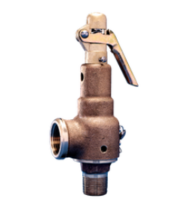 "Kunkle  6021HGT01-AM0160 Bronze Safety Relief Valve with Side Outlet 1-1/2"" x 2"" 160 PSI 7004 PPH"