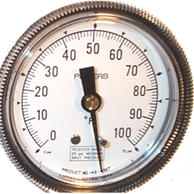 "Siemens Building Technology 142-0327 Gauge 2.5"" Dial 0-100F 1/4"" Barbed"