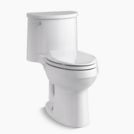 Kohler 3946-0 Adair Comfort Height One-Piece Toilet with Left Hand Lever & Elongated Bowl (White)